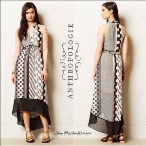Anthro Maeve | Channeled Dot Dress Black/White 8